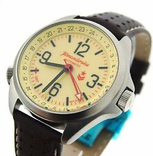 Vostok Komandirskie K-34 GMT Russian watch 24 hours 340007