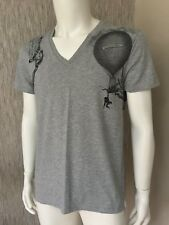 Alexander McQueen Graphic Shoulder Print Tshirt Retail Size L..very RARE