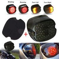 LED Tail Light Smoke Lens Brake Turn Signal For Harley Dyna Softail Road King US