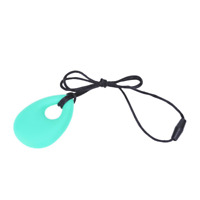 Best Selling Teardrop Chew Silicone Necklace Pendant Autism ADHD Sensory
