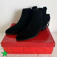Aerosoles Womens Crosswalk Black Ankle Boots Shoes 8 Medium (B,M) BHFO 2358