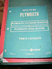 1978 1979 1980 Plymouth Trail Duster Suv Voyager Wagon Illustrated Parts Catalog