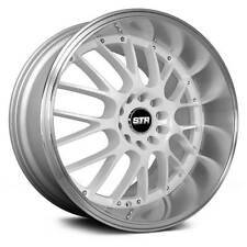 STR Racing  514  White with Machined Lip  18x8.5  (+30)  5x114.3