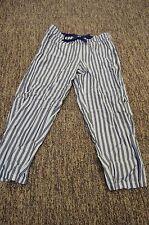 NEW VICTORIA'S SECRET THE MAYFAIR CROP CROPPED CAPRI SLEEP PANTS BLUE STRIPE M