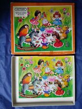 Vintage Retro Victory Wooden Jigsaw Puzzle BIRTHDAY PARTY 20 pieces 1979