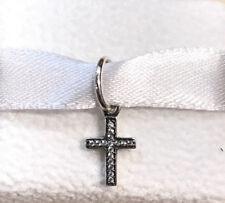 Pandora Symbol of Faith Cross Dangle Charm #791310CZ +Gift Packaging +Pouch