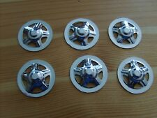 PRESSED STEEL TOYS - 6 REPLACEMENT CHROME LATE TRI - HOLE HUBCAP FOR TONKA TOY