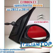 Citroen C1 dal 07.2014/> Vetro Piastra Dx Cromata Attacco Basso x Retrovisore