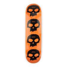 Zero Skateboards Multi Skull 8.125″ Deck – Black Orange