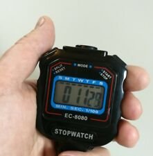 Stoppuhr mit Digital Display ,  Schwarz, ±1/100 Sek. /  EC-8080 Neu!