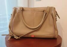PacaPod Firenze 'latte' leather baby-changing bag with pods RRP £285