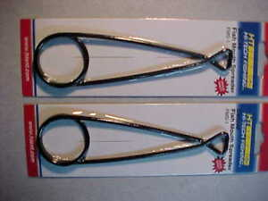 """2 NEW 6 """" FISH mouth jaw spreaders HT DELUXE  STEEL SPREADER NORTHERN pike"""