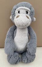 Jellycat Medium Bashful Gorilla Grey Chimp Baby Soft Toy Comfort