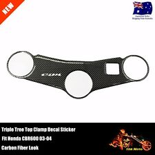 Triple Tree Top Clamp Upper Front End Pad Decal Sticker For HONDA CBR600 03-04