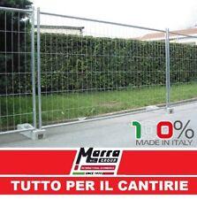 PANNELLO RETE RECINZIONE MOBILE ZINCATO GRIGLIATO CANTIERE 330X200 TEMPORANEA