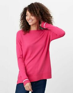 Joules Womens Vivianna Slash Neck Jumper - Hot Pink - 22