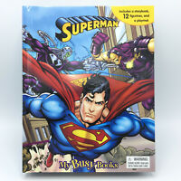 DC Comics SUPERMAN Busy Book 12 Figures And A Playmat BRAND NEW Sealed