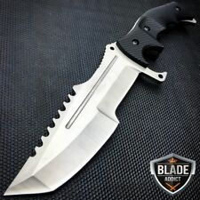 TACTICAL COUNTER-STRIKE CSGO SILVER HUNTSMAN KNIFE Hunting Bowie CS:GO -F