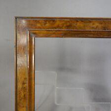 CADRE BAGUETTE XIXe BOIS PLACAGE LOUPE D'ORME  feuillure : 38 x 26 cm