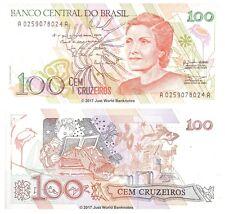 Brazil 100 Cruzeiros 1990 P-228 billets UNC