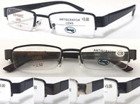 L406 High Quality Semi-Rimless Reading Glasses Spring Hinge Classic Style Design