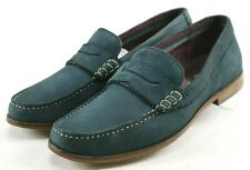 Ted Baker Miicke 5 $220 Men's Penny Loafers Size 10 Blue Suede