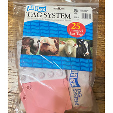 """Pink Allflex Supermaxi 2pc Blank tags for cattle 25 3"""" Wide x 4 5/8"""" High"""