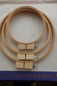 Round Wooden Quilting Hoop/Ring ideal for hand quilting, crewel 10 inch