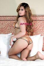 FILIPINA MODEL APRILG 8x12 AUTOGRAPH #558