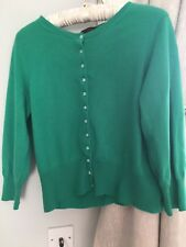 Pure Collection Emerald Green Cashmere Cardigan 14