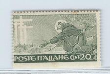 FRANCOBOLLI 1926 REGNO SAN FRANCESCO 20 CENTESIMI NON DENTELLATO MLH A/5565