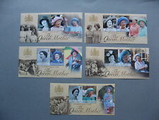 COMMONWEALTH, small lot 15x S/S MNH, the Queen Mother, royalty