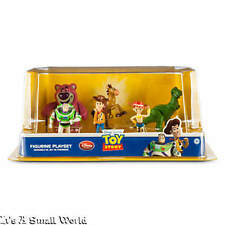 Disney Store Toy Story Figure Play Set Cake Toppers Woody Jessie Lotso Rex NIB