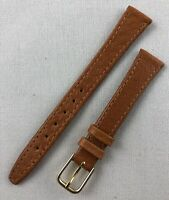 Kreisler Genuine Pigskin 14mm Light Brown Tan Ladies Leather Watch Band W99