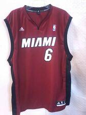 Adidas NBA Jersey Miami Heat Lebron James Red sz 2X