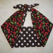 Black Cherry Polka anni Cinquanta Stile ROCKABILLY, PIN UP, Bandana Fascia, Hairband