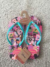 Havaianas Disney Collection Minnie Mouse Flip Flops Rubber Sandals Size 6