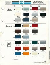 1986 Import Paint Chips Alfa Romeo Bertone Ford Cargo Truck Merkur Maserati