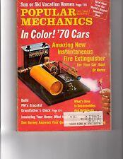 Vintage Popular Mechanics Magazine October 1969, 1970 Cars, Grandfather Clock