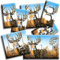 WHITETAIL DEER BUCK ANTLERS LIGHT SWITCH WALL PLATE OUTLET CABIN ROOM HOME DECOR