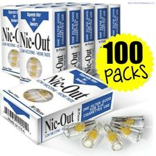 100 PACKS Nic Out Cigarette Disposable Smoking Filter Holders - WHOLESALE