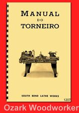 South Bend Manual do Torneiro Manutenção Operação de Tôrno Mecânico em Português