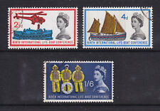 1963 LIFEBOAT PHOSPHOR SET OF 3 SG639P/641P FINE USED