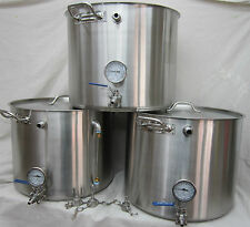 25 Gallon Brutus kettles 3 Pak, HLT, MT,BK, Nano system with sparge tube