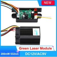 DIY Fat Beam Steady 200mW 532nm Green Laser Module Diode Analog DPSS Fan Stage