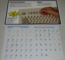 Russian Transparent Keyboard Stickers Blue Letters New Key-top Cyrillic Labels