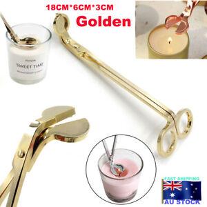 Stainless Steel Candle Wick Trimmer Oil Lamp Trim Scissor Cutter Snuffer Clipper