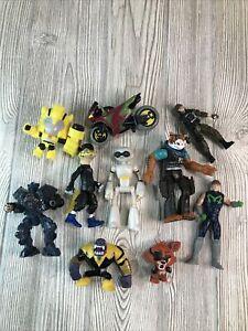 Big Random Lot of 10 Toys Figures Action Figures & Transformers DC Heroes Etc