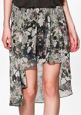 Floral Asymmetrical Skirts Plus Size for Women