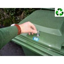 Universal wheelie bin lock, easy to fit, strong and discrete FREE holesaw